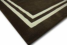 Designer Teppich 150x240 cm 100% Wolle Handtuft