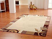 Designer Teppich beige rund, ca. 180 cm