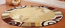 Designer Teppich braun 133 x 190 cm