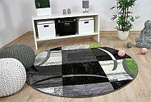 Designer Teppich Brilliant Karo Grau Grün Trend