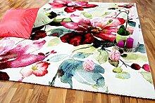 Designer Teppich Brilliant Rosa Pink Blumen in 3