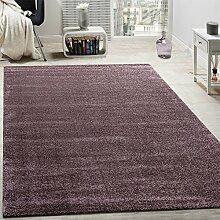 Designer Teppich Frieze Teppiche Luxuriös Schimmer Glanzeffekt Uni Pastell Lila, Grösse:120x170 cm