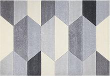 Designer-Teppich grau 160 x 230 cm NAVETTE