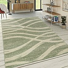 Designer Teppich Kurzflor Wellen Muster