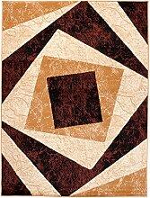Designer Teppich mit Karo Beige Kariert Meliert in