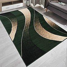 Designer Teppich mit Modern Wellen Meliert in