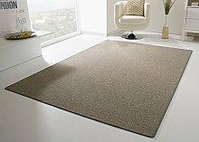 Designer Teppich Modern Calais Flachgewebe in Grau braun, Größe: 200x200 cm