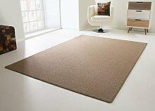 Designer Teppich Modern Cardiff Flachgewebe in Braun, Größe: 80x150 cm