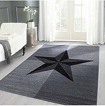 Designer Teppich Modern Stern Muster Kurzflor