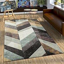 Designer Teppich Modern Stylish mit Konturenschnitt Mehrfarbig Beige Gelb Grün, Grösse:160x230 cm