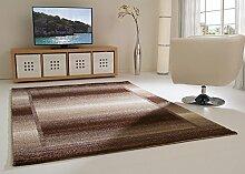 Designer Teppich Modern Tivoli Bordüre Klassisch in beige, Größe: 240x290 cm