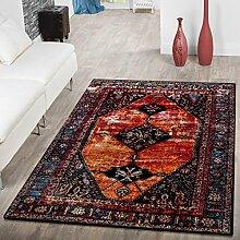 Designer Teppich Orientalische Muster Modern Wohnzimmer Teppich Mehrfarbig Bunt, Größe:120x170 cm