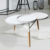 Designer Tisch in Naturfarben und Weiß rund