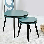 Designer Tisch Set in Petrol und Schwarz rund