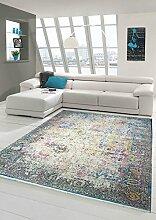 Designer und Moderner Teppich Vintage-Design Multi