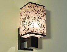 Designer Wandleuchte Wand Strahler Lampe Retro Design Restaurant Bar Salon E27 LED ROM 20 (Sockelfarbe: Nuss)