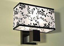 Designer Wandleuchte Wand Strahler Lampe Retro Design Restaurant Bar Salon E27 LED Wien 19 (Sockelfarbe: Nuss)