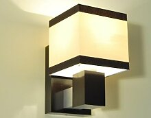 Designer Wandleuchte Wand Strahler Lampe Retro Design Restaurant Bar Salon E27 LED Paris 22a (Sockelfarbe: Natur)