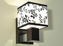 Designer Wandleuchte Wand Strahler Lampe Retro Design Restaurant Bar Salon E27 LED Wien 21 (Sockelfarbe: Wenge)