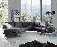 Designer-Wohnlandschaft Silas 300x200 Schwarz