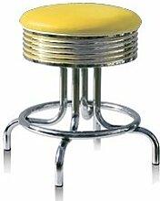 Designerbarhocker 2-er Set Barhocker Gastronomie Barstuhl Hocker Bar Stuhl 50's Diner Hochstuhl (Yellow)