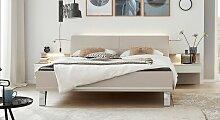 Designerbett 1009, 140x210 cm, grau