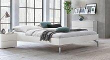 Designerbett Akuma, 90x200 cm, weiß