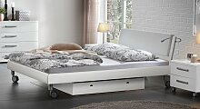 Designerbett Antia, 140x200 cm, weiß