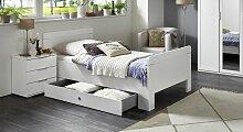 Designerbett Aradeo, 100x200 cm, weiß