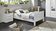 Designerbett Aradeo, 90x200 cm, weiß