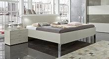 Designerbett Baria, 160x200 cm, creme