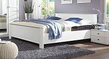 Designerbett Berata, 100x200 cm, weiß