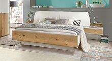 Designerbett Briston, 160x200 cm, weiß