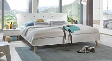 Designerbett Corvara, 140x200 cm, weiß