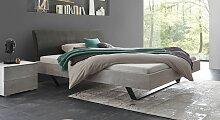 Designerbett Damian, 140x200 cm, grau