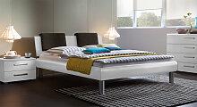 Designerbett Enna, 140x200 cm, weiß