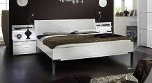 Designerbett Huddersfield, 140x200 cm, weiß