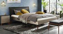 Designerbett Istari, 140x200 cm, silber