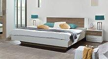 Designerbett Kenva, 140x200 cm, weiß