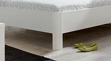 Designerbett Koga, 160x200 cm, weiß