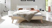 Designerbett Labrea, 140x200 cm, Nussbaum natur