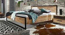 Designerbett Lakewood, 160x200 cm, Eiche natur