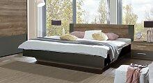 Designerbett Lika, 140x200 cm, anthrazit