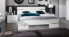 Designerbett Manati, 140x200 cm, weiß