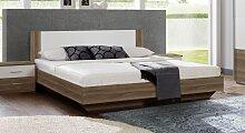 Designerbett Mandola, 140x200 cm, Eiche dunkel