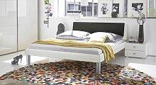 Designerbett Mendo, 140x190 cm, weiß