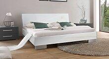 Designerbett Piceno, 140x200 cm, weiß