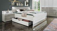 Designerbett Shanvalley, 160x190 cm, weiß