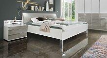 Designerbett Shanvalley, 200x200 cm, weiß