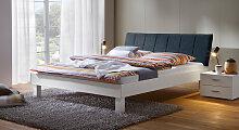 Designerbett Sierra, 120x200 cm, weiß